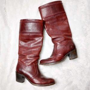 Frye Women's Jane 14L Boots in Redwood